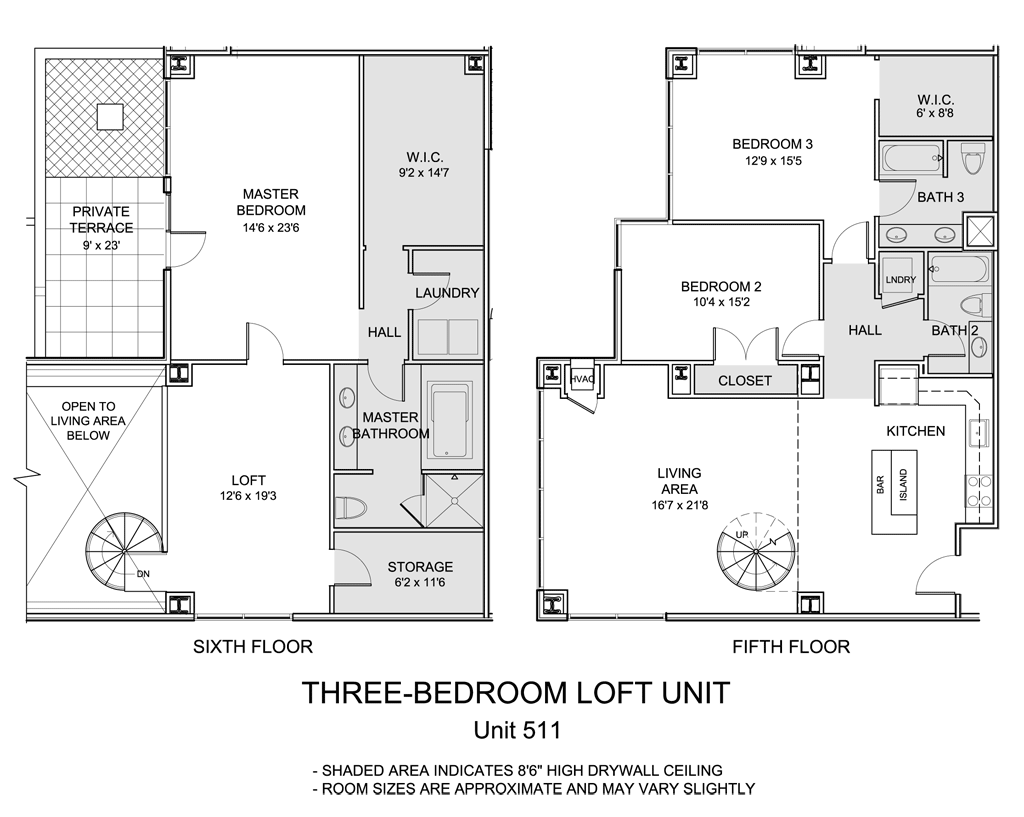 1500 condominium live boldly live here for 4 bedroom loft floor plans